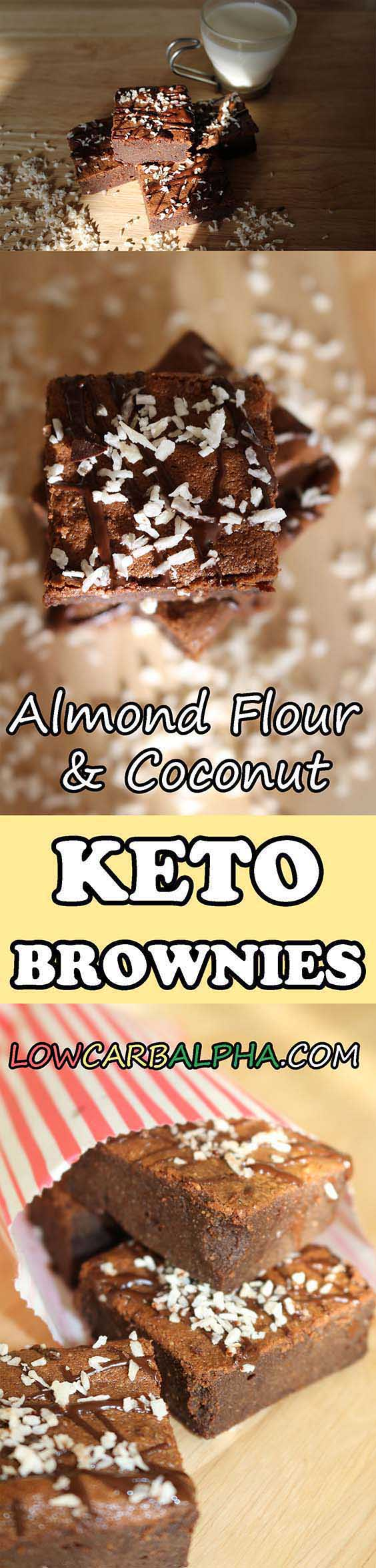 Almond Flour Coconut Oil Keto Brownies Recipe