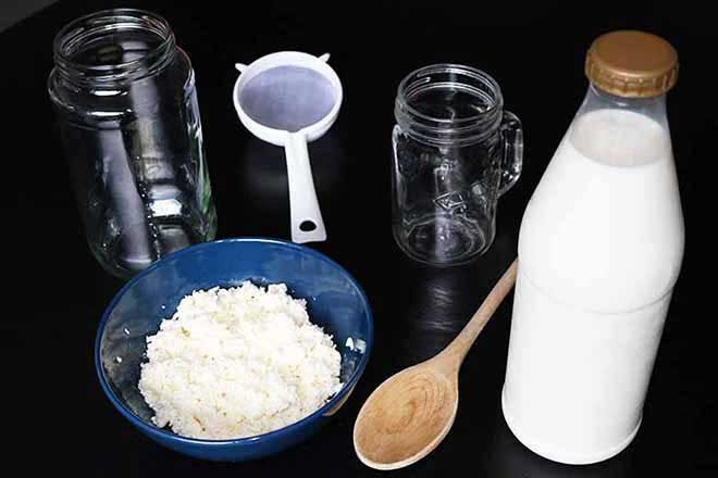 How to make milk kefir ingredients to use
