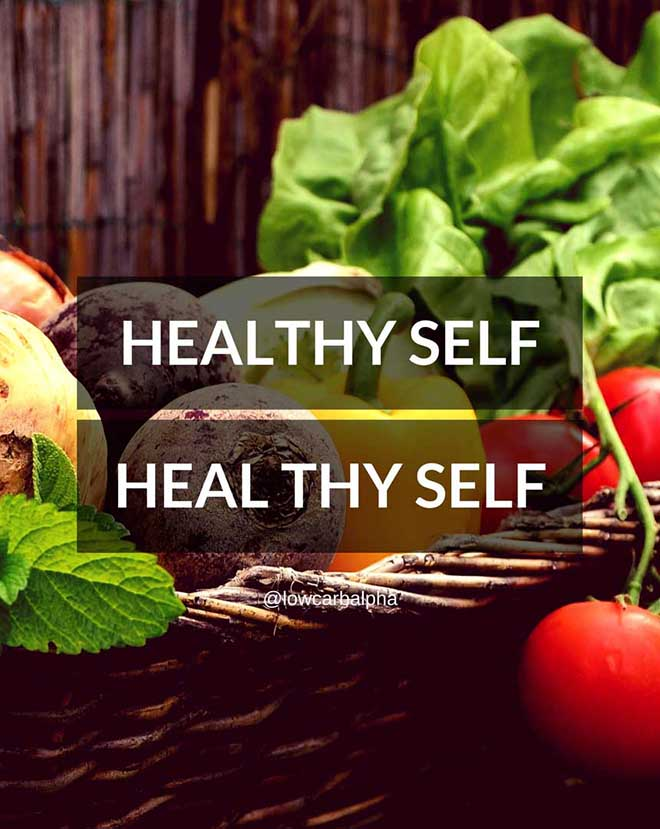 Healthy self equals heal thy self quote
