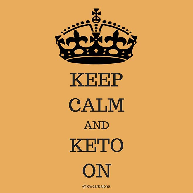Keep calm and keto on quote