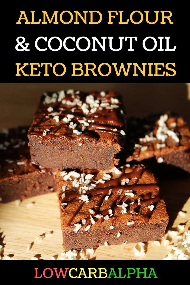 Almond Flour & Coconut Oil Keto Brownies Recipe #lowcarb #keto #LCHF #lowcarbalpha