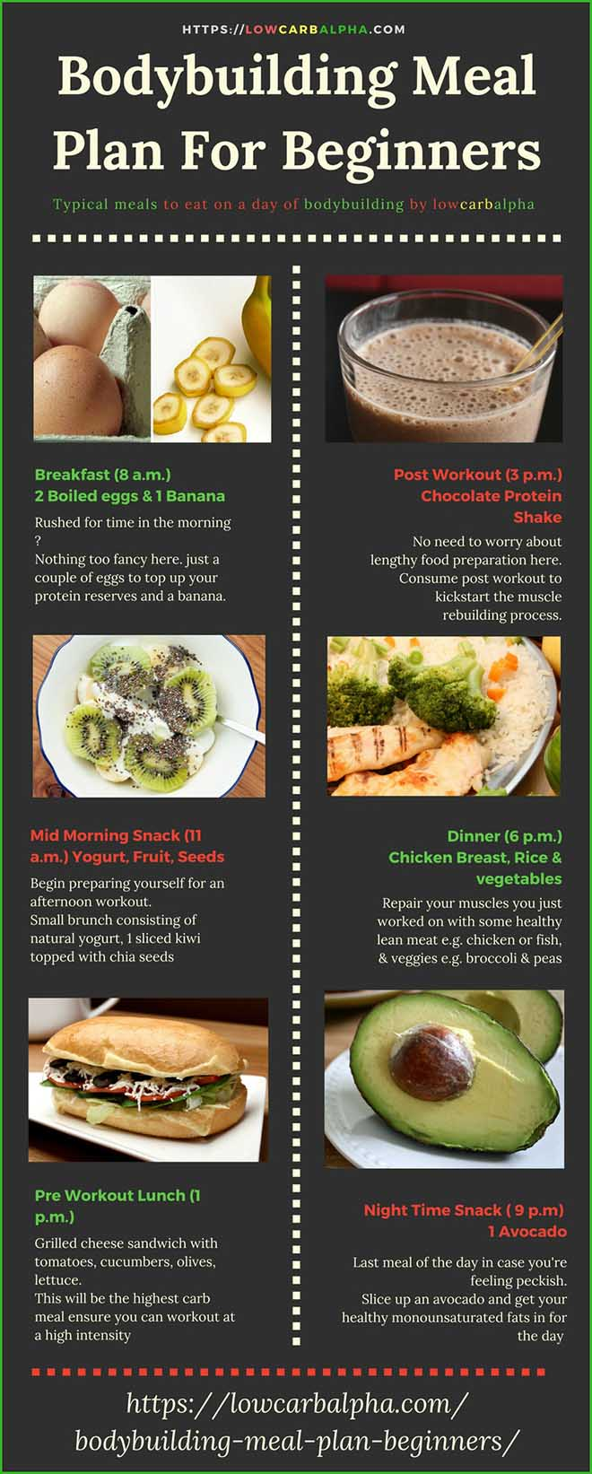 Bodybuilding Meal Plan For Beginners Sample Foods for a