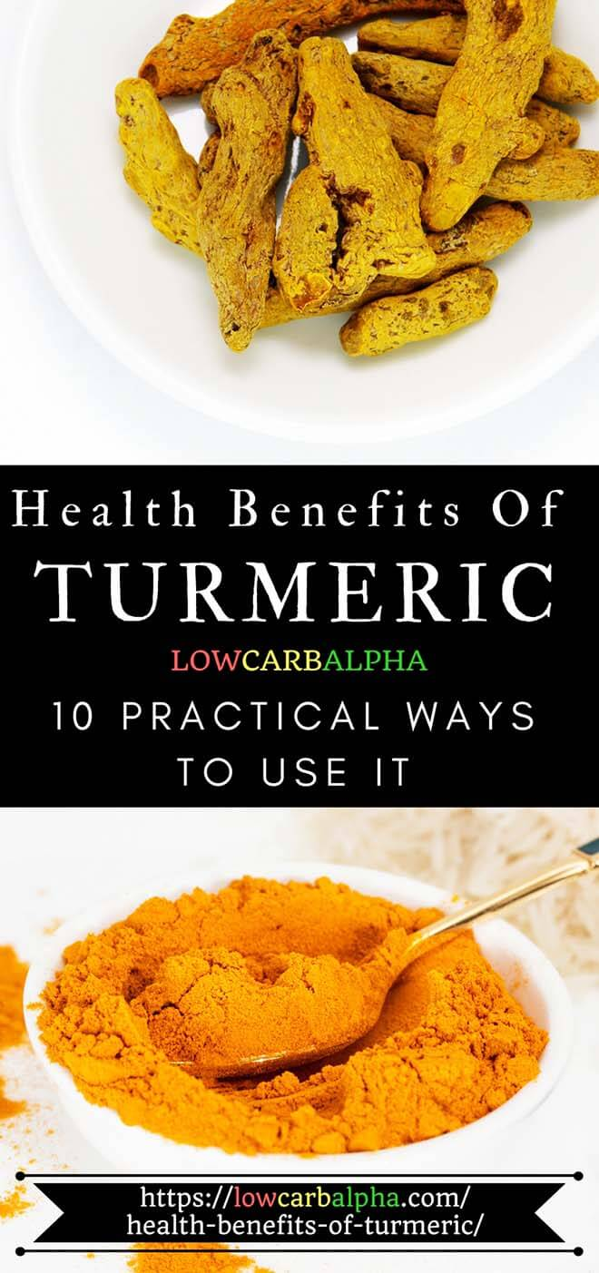 Health Benefits of Turmeric and ways to use it #health #nutrition #loseweight #lowcarbalpha