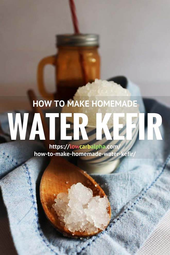 How to make Homemade Water Kefir Recipe #lowcarb #keto #LCHF #lowcarbalpha
