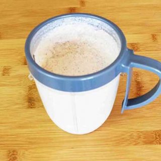Low Carb High Fat Almond Vanilla Protein Shake