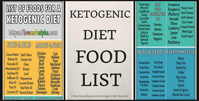 High Fat Food List For Ketogenic Diet
