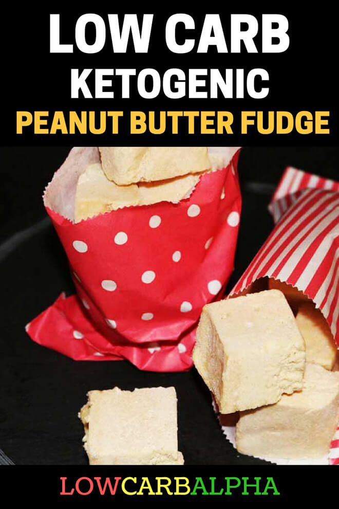 Low Carb High Fat Peanut Butter Fudge #lowcarb #keto #LCHF #lowcarbalpha