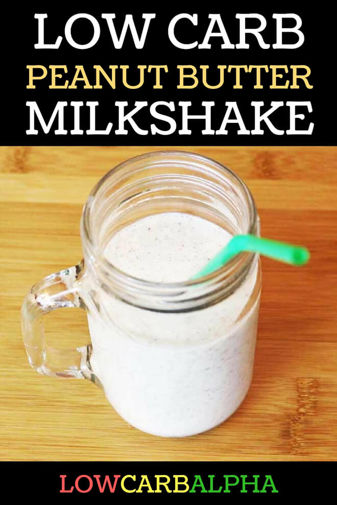Low Carb Keto Peanut Butter Milkshake Recipe #lowcarb #keto #LCHF #lowcarbalpha