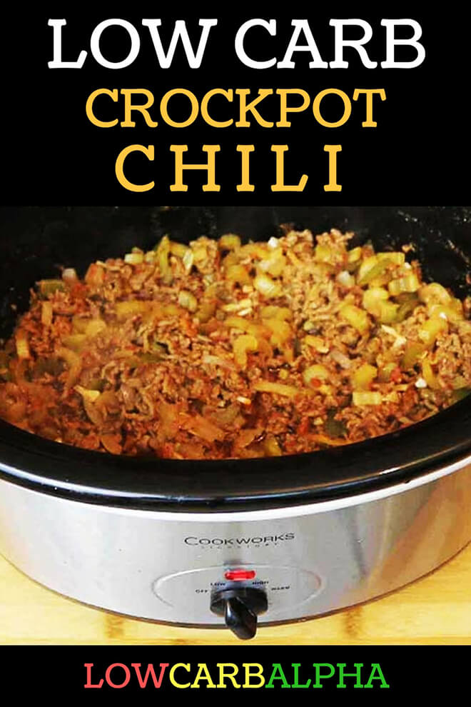 Low Carb Crockpot Chili - Ketogenic Diet Recipes