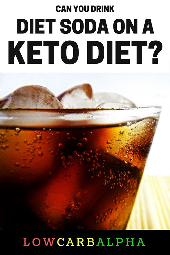 Can you drink diet soda on a ketogenic diet? #lowcarb #keto #soda #lowcarbalpha