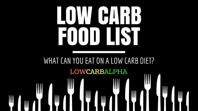 Low Carb Food List – What Can You Eat?