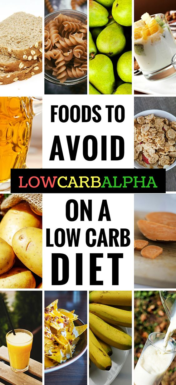 Foods to avoid and limit on a low carb diet #lowcarb #keto #lchf #lowcarbalpha