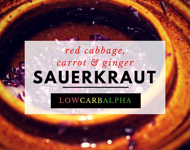 how to make sauerkraut easy homemade fermented food in a fermenting crock. Red cabbage, carrot and ginger sauerkraut recipe