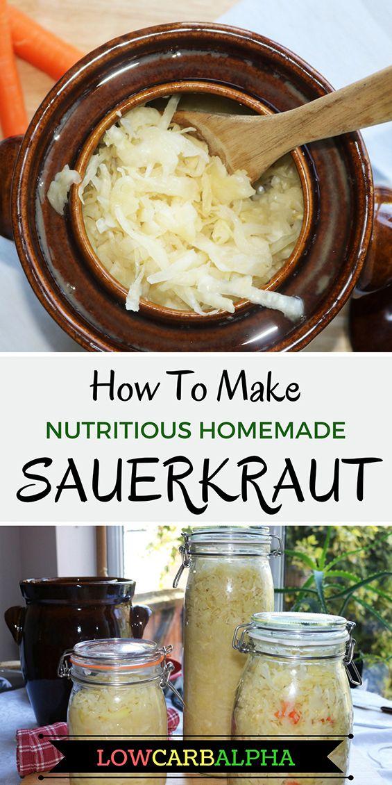 How to make nutritious homemade sauerkraut recipe