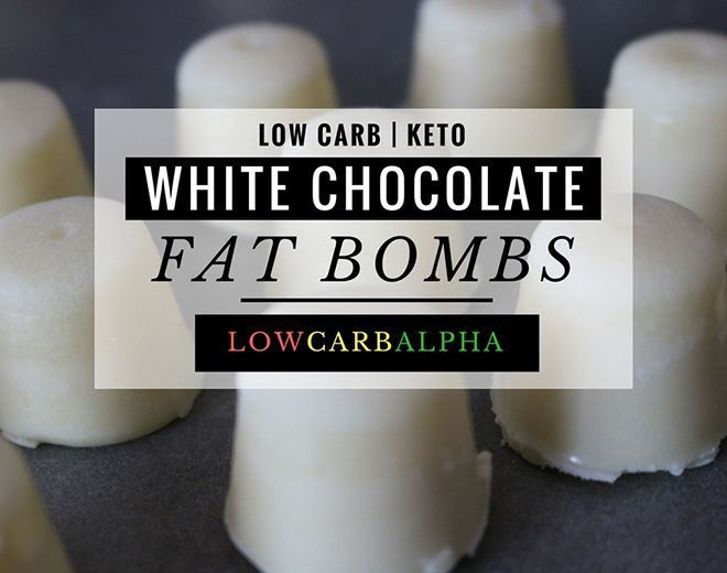 Keto Coconut White Chocolate Fat Bombs