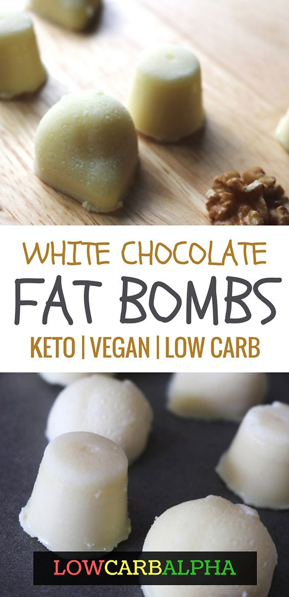white chocolate fat bombs keto vegan low carb recipe #keto #lowcarb #lchf #lowcarbalpha