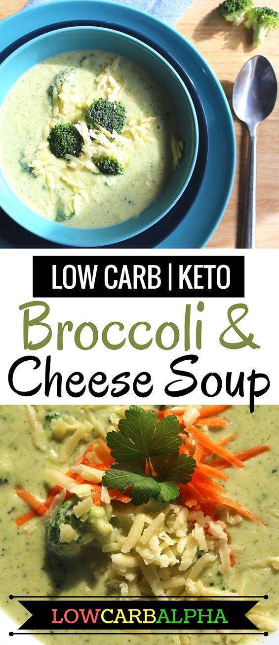Low Carb Keto Broccoli Cheddar Cheese Soup #lowcarb #keto #lchf #lowcarbalpha