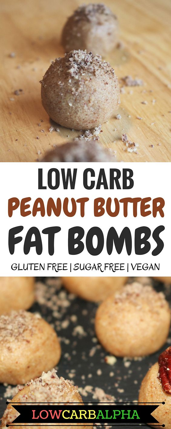 low carb peanut butter fat bombs gluten free sugar free vegan #lowcarb #keto #lchf #lowcarbalpha