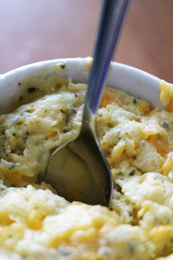 Low Carb Keto Cheddar Cheese Coconut Flour Mug Bread Recipe