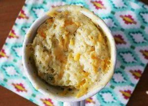 Keto Cheddar Cheese Coconut Flour Mug Bread