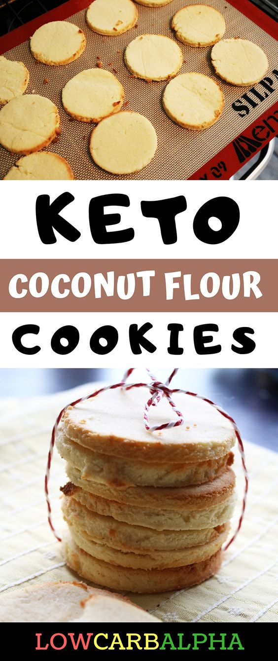 Keto Coconut Flour Cookies Recipe #lowcarb #keto #coconutflour #lowcarbalpha