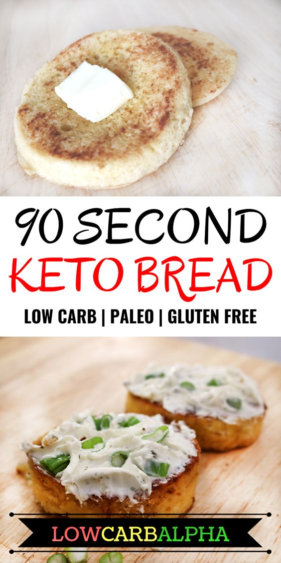 90 Second Microwave Keto Bread | Gluten-Free and Paleo