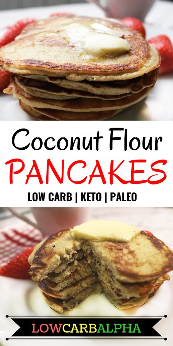 coconut flour pancakes low carb keto paleo #lowcarb #keto #lchf #lowcarbalpha
