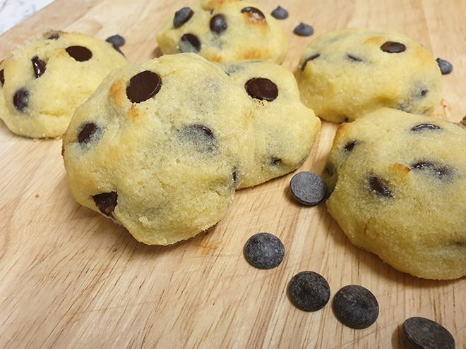 Keto Coconut Flour Chocolate Chip Cookies