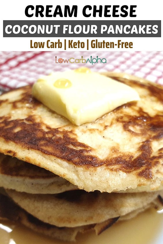 Keto Cream Cheese Coconut Flour Pancakes Recipe